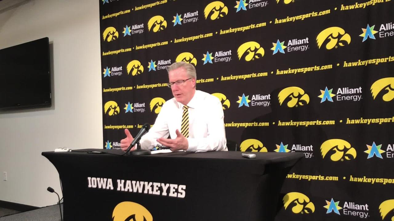 Iowa coach Fran McCaffery explains how you go about stopping Ohio State star Kaleb Wesson. It's a long list. Listen in: