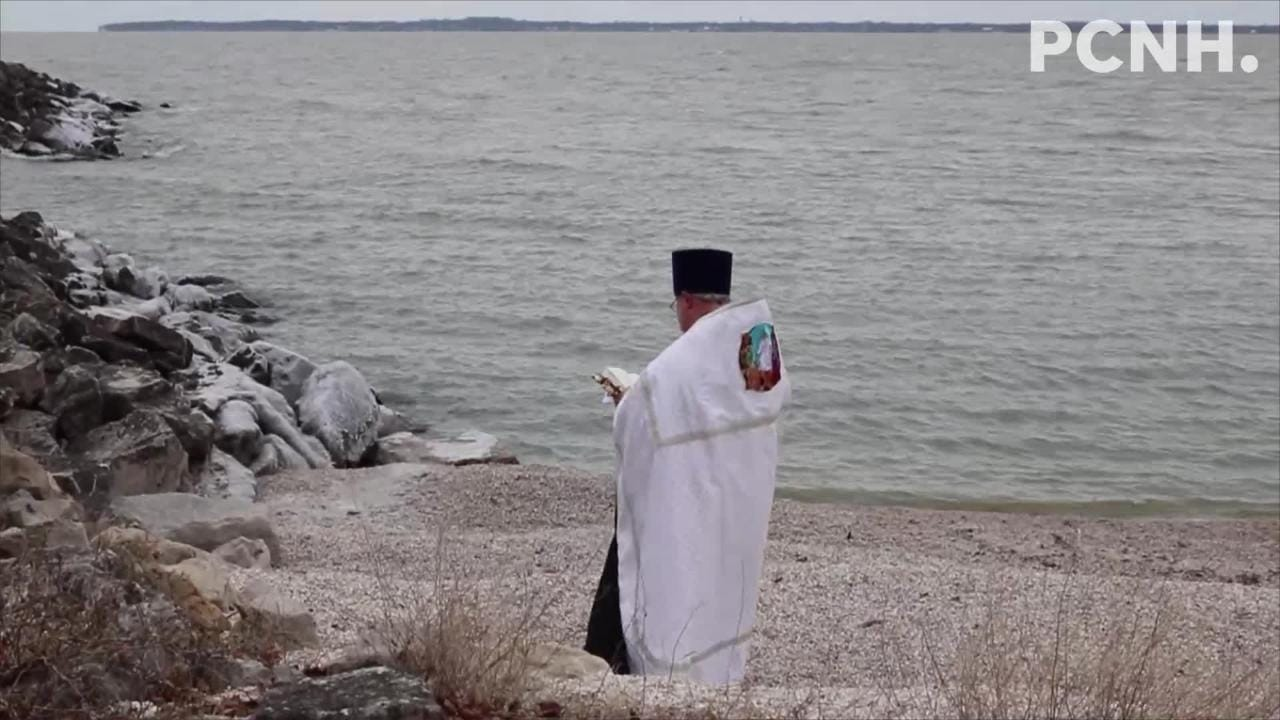 The Holy Assumption Orthodox Church held its first annual Blessing of Lake Erie on Saturday.