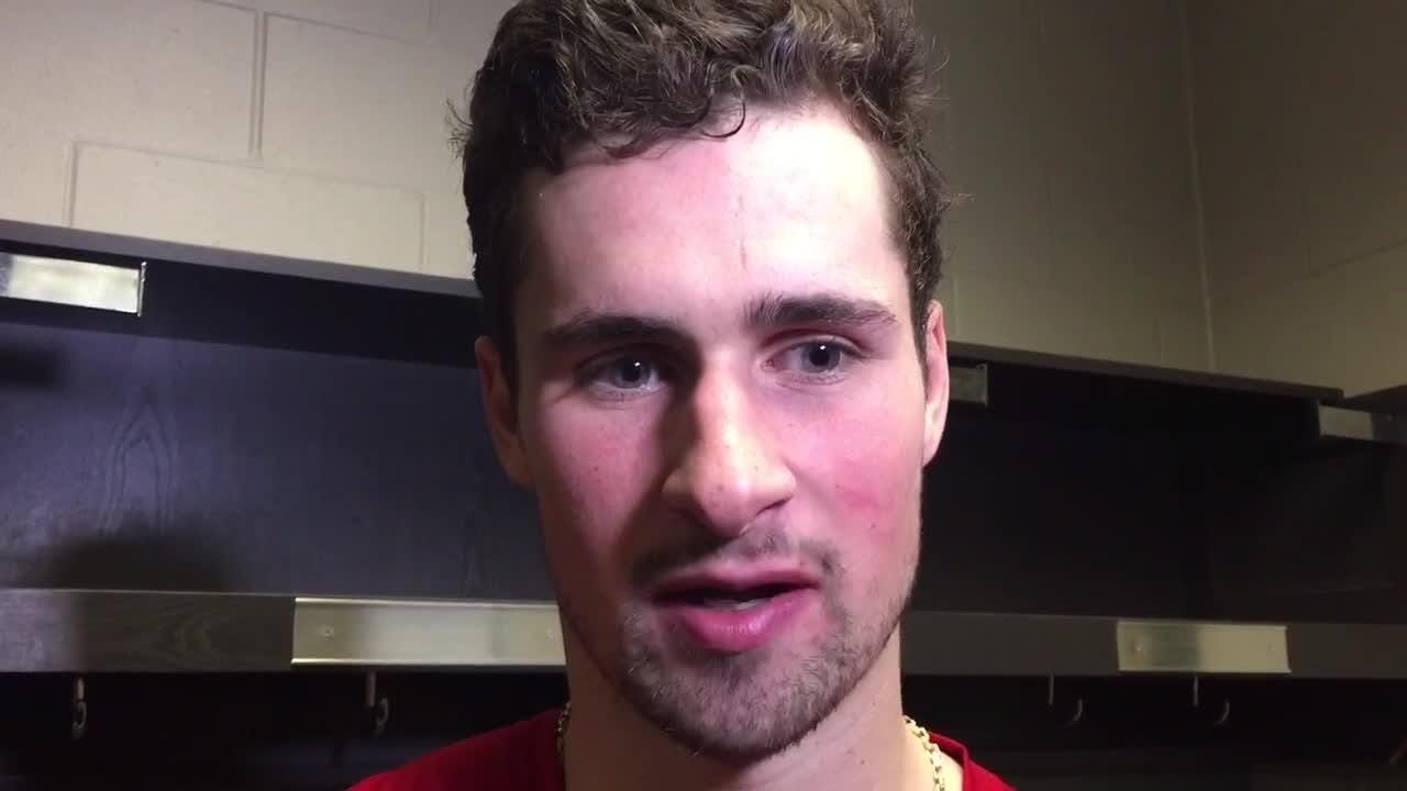 The Red Wings gave themselves a shot of confidence with the way they played against the Wild. Filmed Jan. 12, 2019 in Saint Paul, Minn.