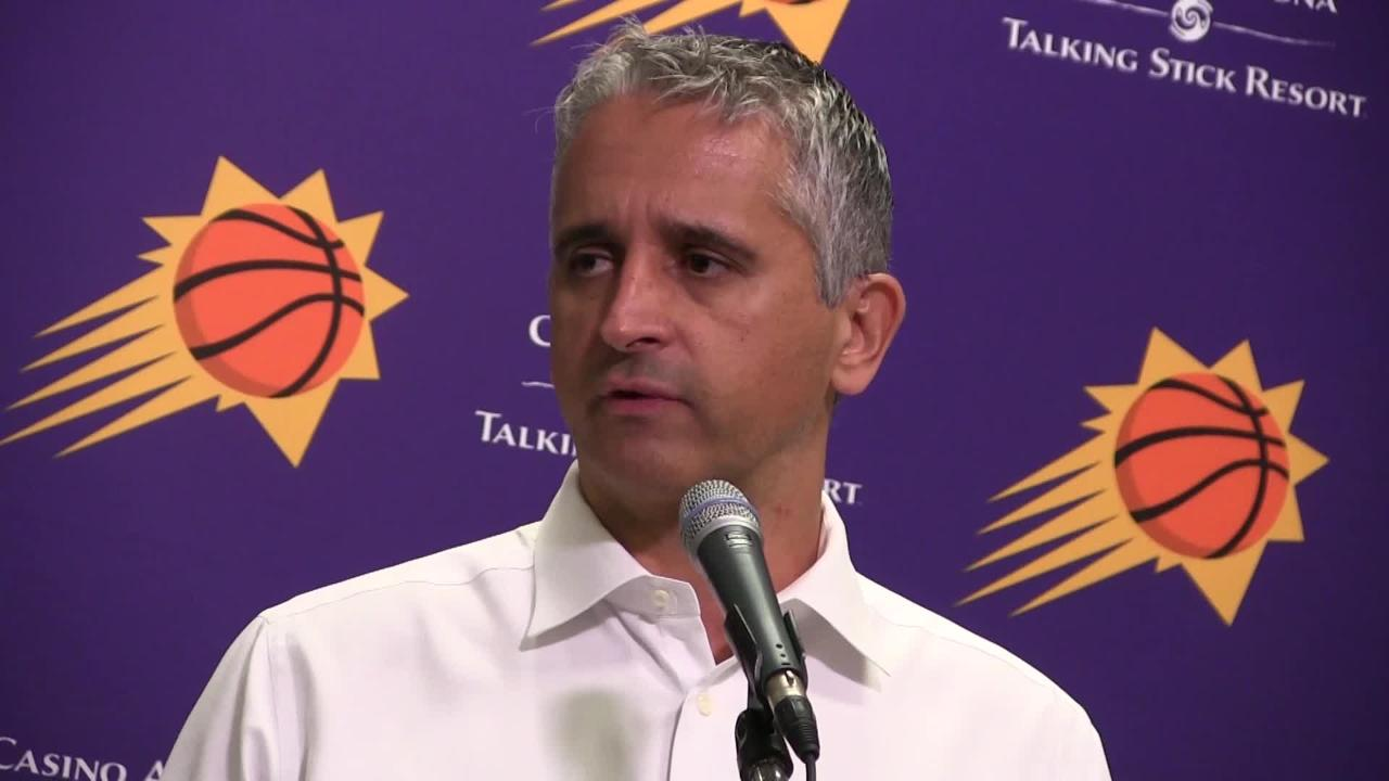 Phoenix Suns talk about the defensive effort in Saturday night's 102-93 win over the Denver Nuggets at Talking Stick Resort Arena.