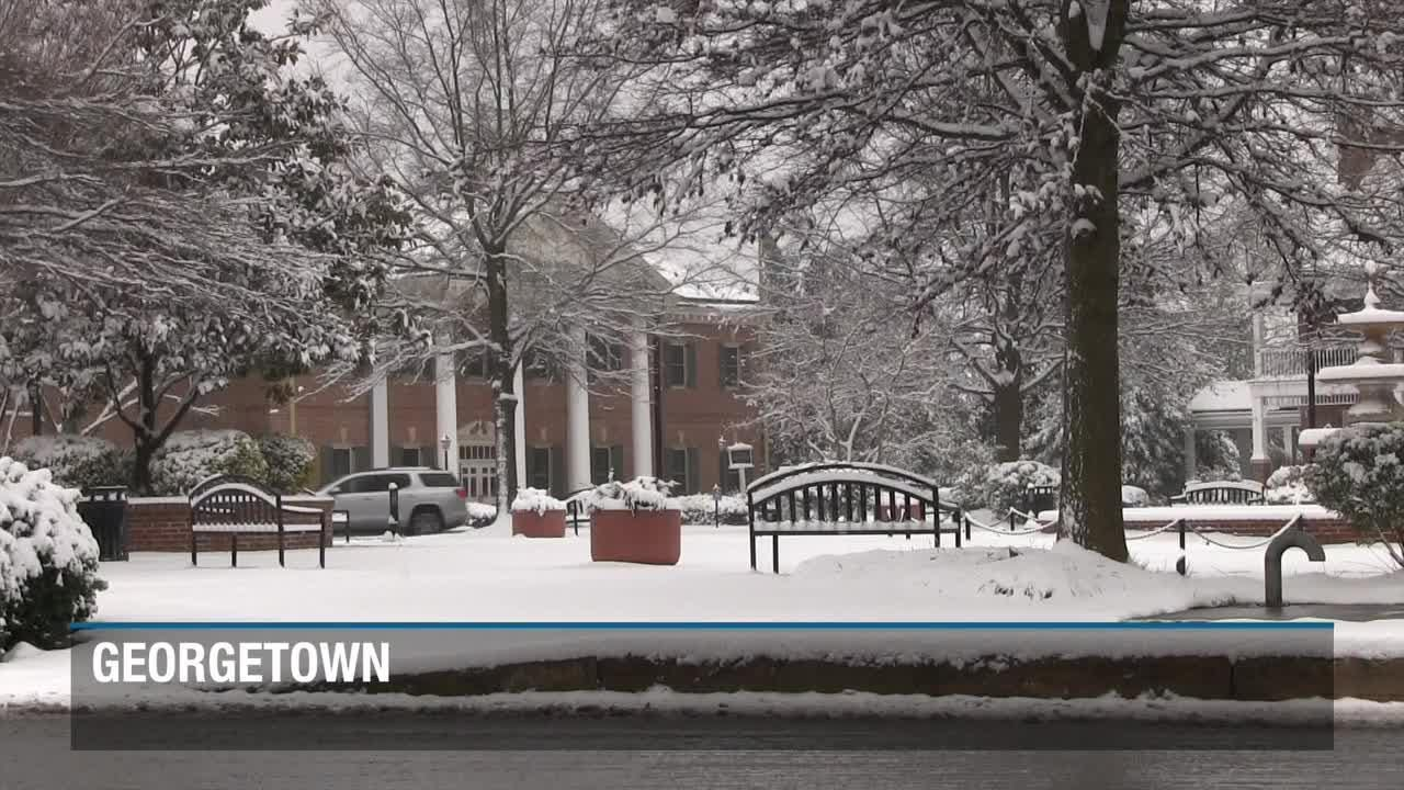 Snow conditions west of the Delaware Beaches