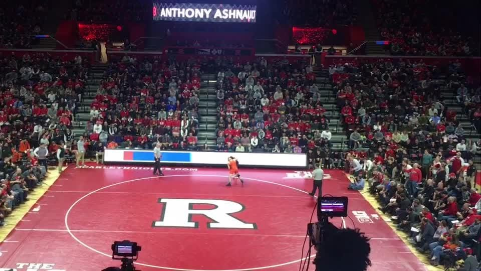 College wrestling: Anthony Ashnault of Rutgers involved in heated ending to bout