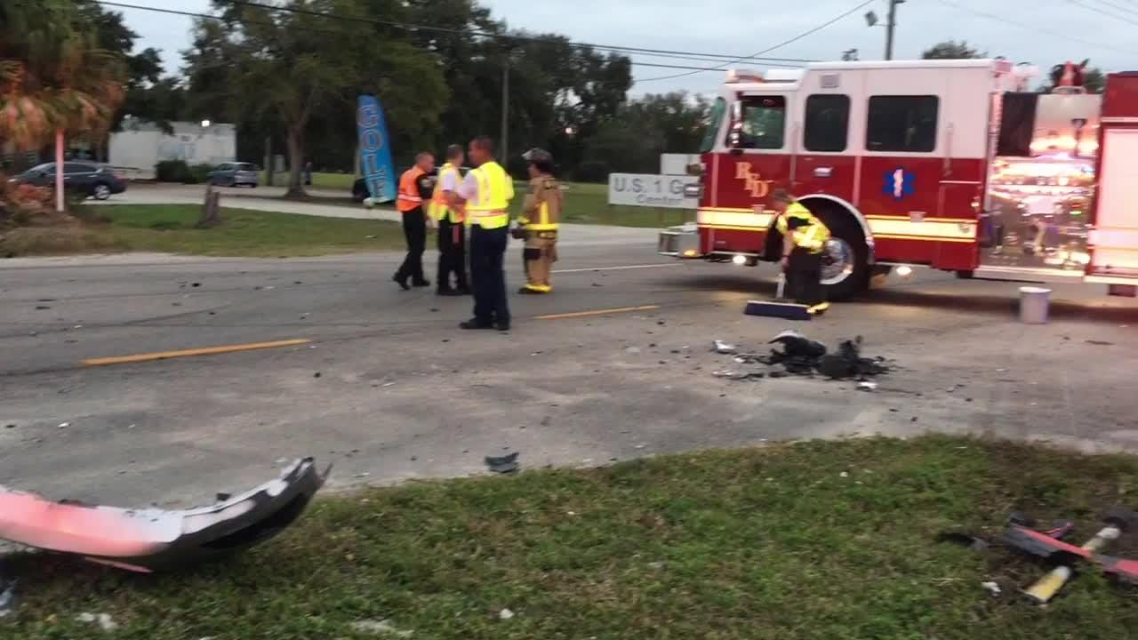 At least two vehicles were involved in a collision near Peddler's Village in unincorporated Rockledge on Sunday. Accident is under investigation.