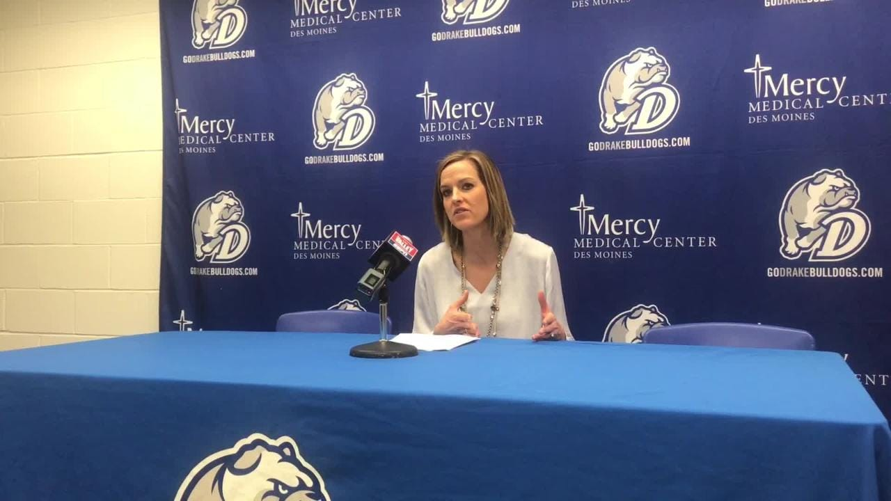 Drake coach Jennie Baranczyk on another dominating win for the Bulldogs