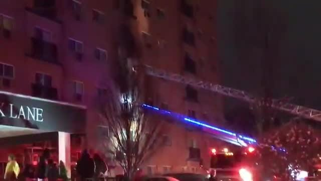 Raw video of emergency personnel at a four-alarm fire at 3201 Victory Parkway in Cincinnati on Sunday