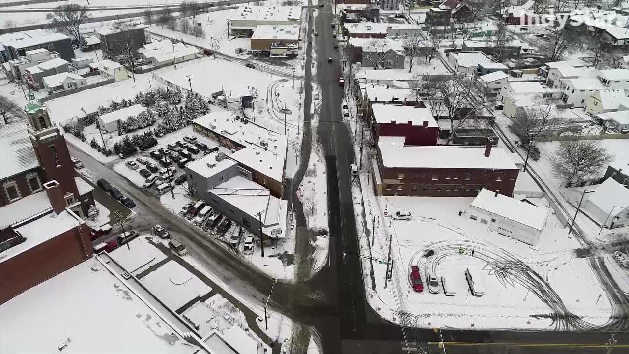 After Indy's first real snowfall of the season, we took our drone to Fountain Square to check out the city from above. Here's the footage we captured.