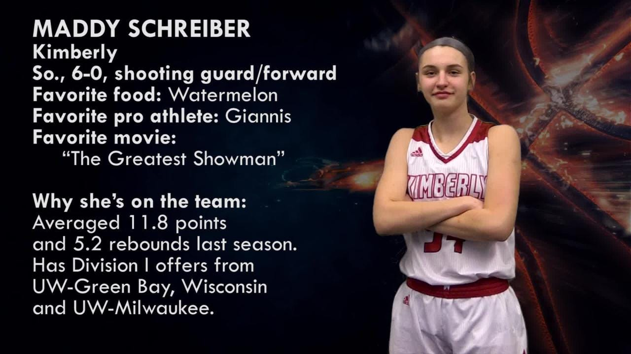 Meet Maddy Schreiber, shooting guard, Kimberly Papermakers