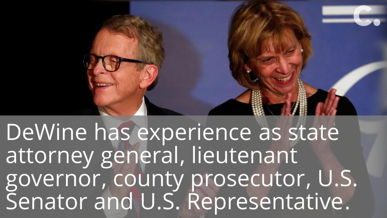 Ohio Gov. Mike DeWine has a large family, long political career and some priorities for the state.
