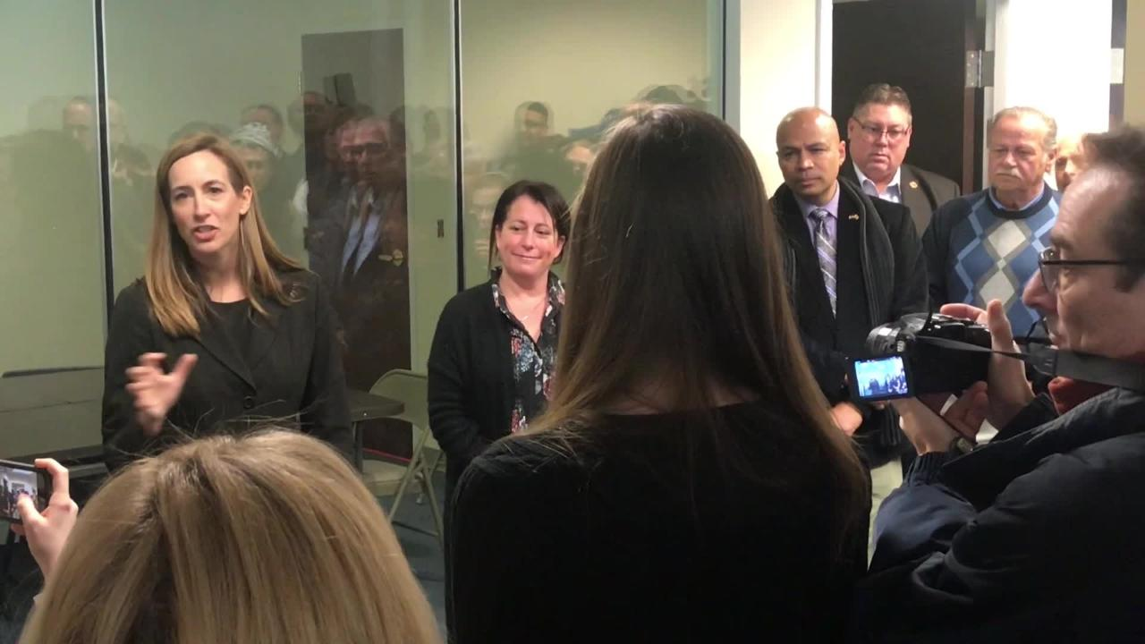 Rep. Mikie Sherrill met with the public in her new Parsippany office during an informal reception to talk about the issues. January 14, 2019.