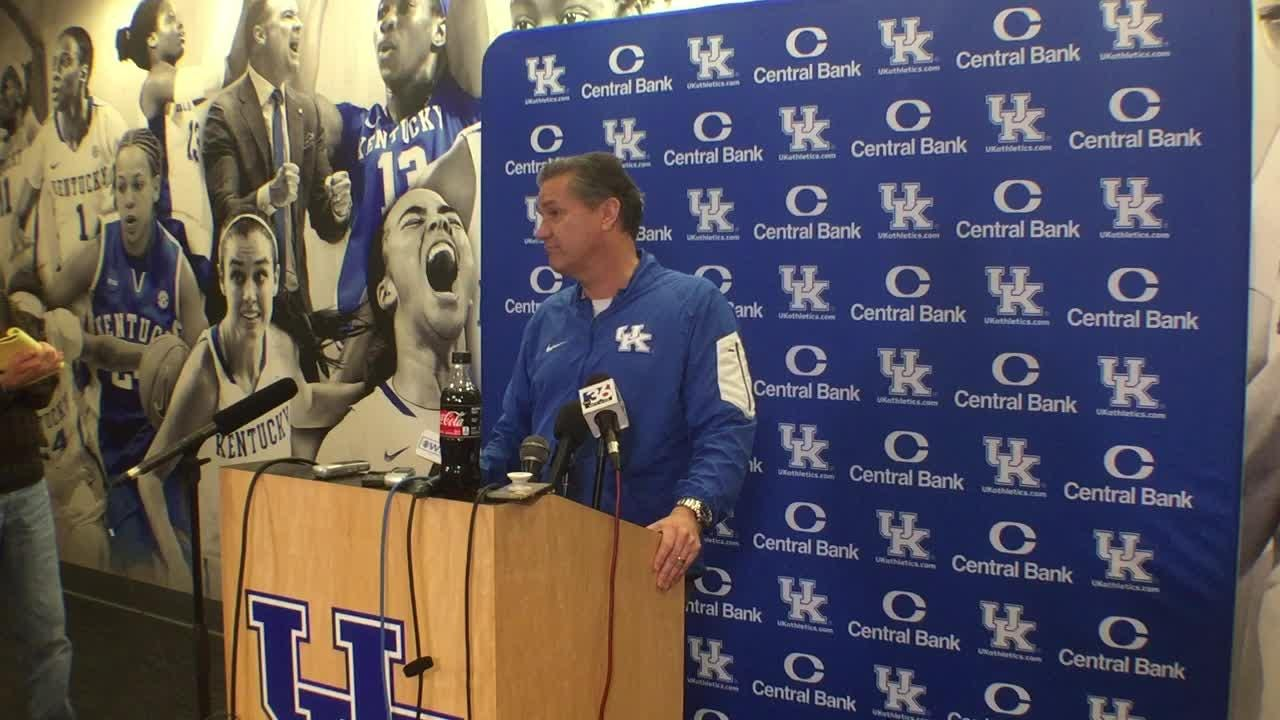 John Calipari's pre-Georgia news conference on Jan. 14, 2019.