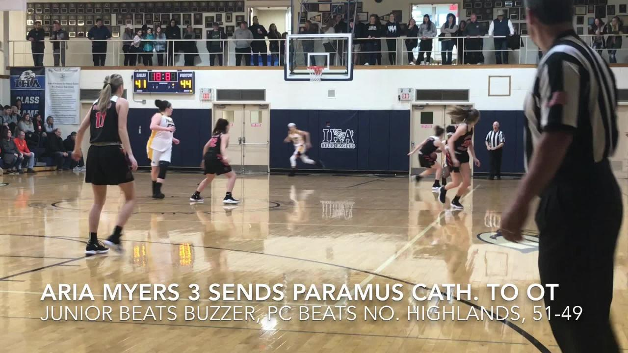 West Orange holds off host Immaculate Heart at the buzzer; Paramus Catholic forces overtime with last-second three against Northern Highlands.