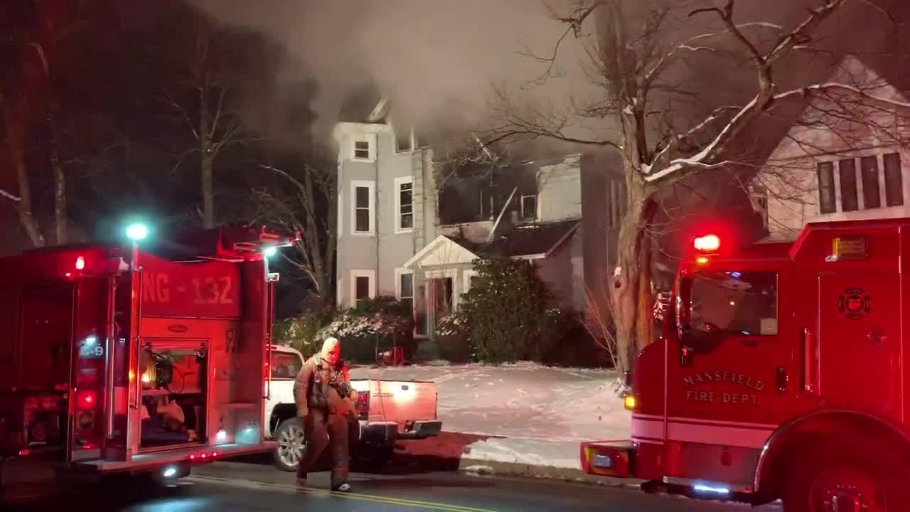 Mansfield Fire Department responded to a structure fire at 42 Sherman Avenue just before 6 p.m. on January 14, 2019.