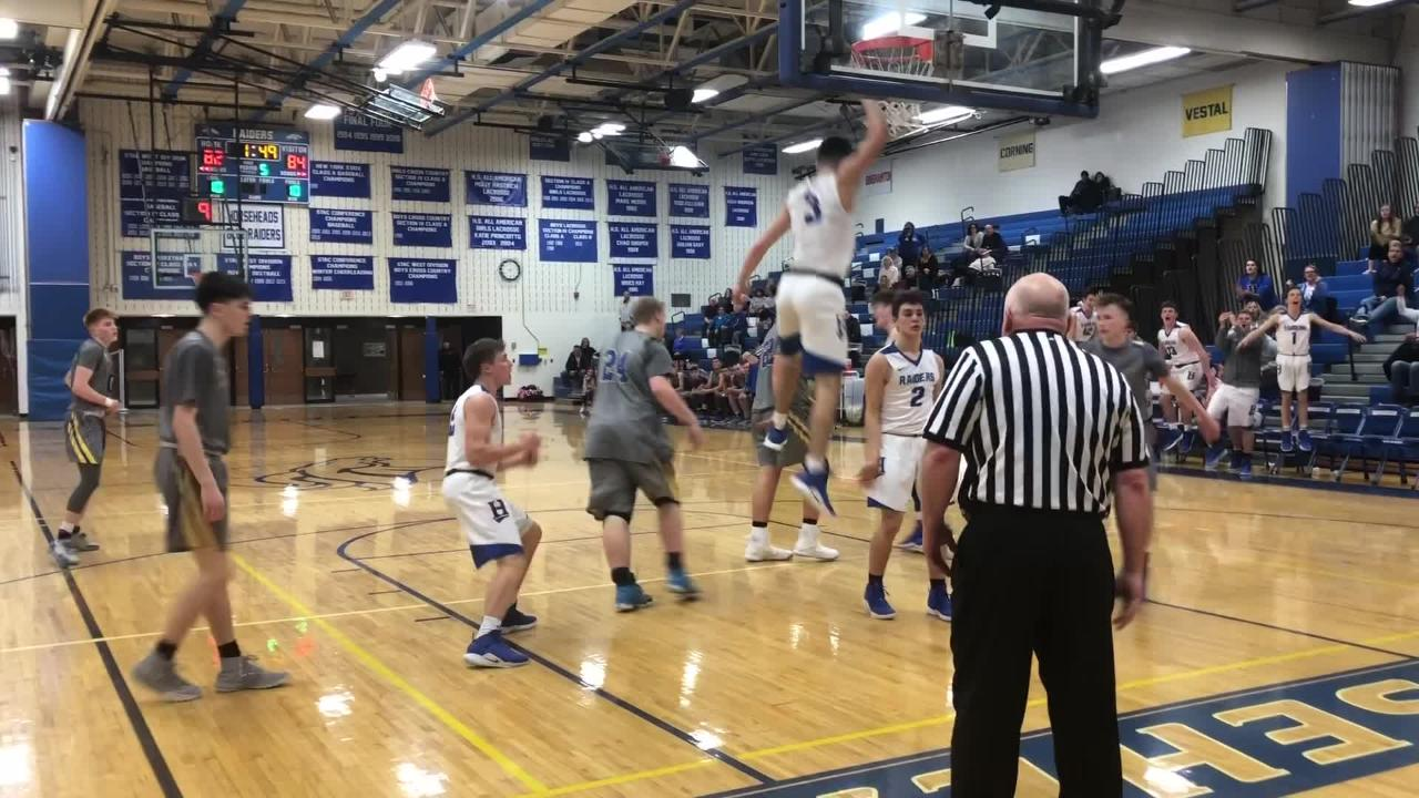 Horseheads trailed by as many as 19 points in the third quarter before rallying for a 90-84 overtime win over Maine-Endwell on Jan. 14, 2019 at home.