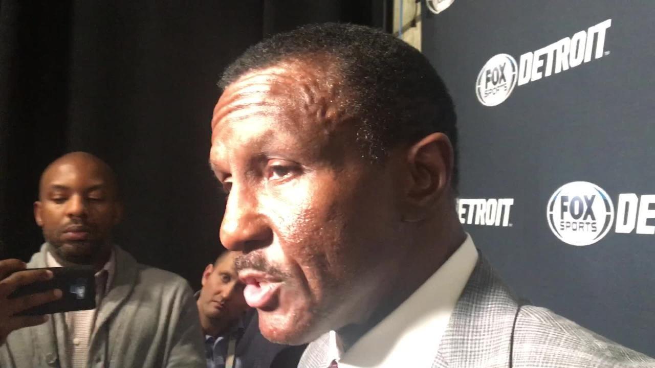 Detroit Pistons' Dwane Casey speaks after loss to Utah Jazz