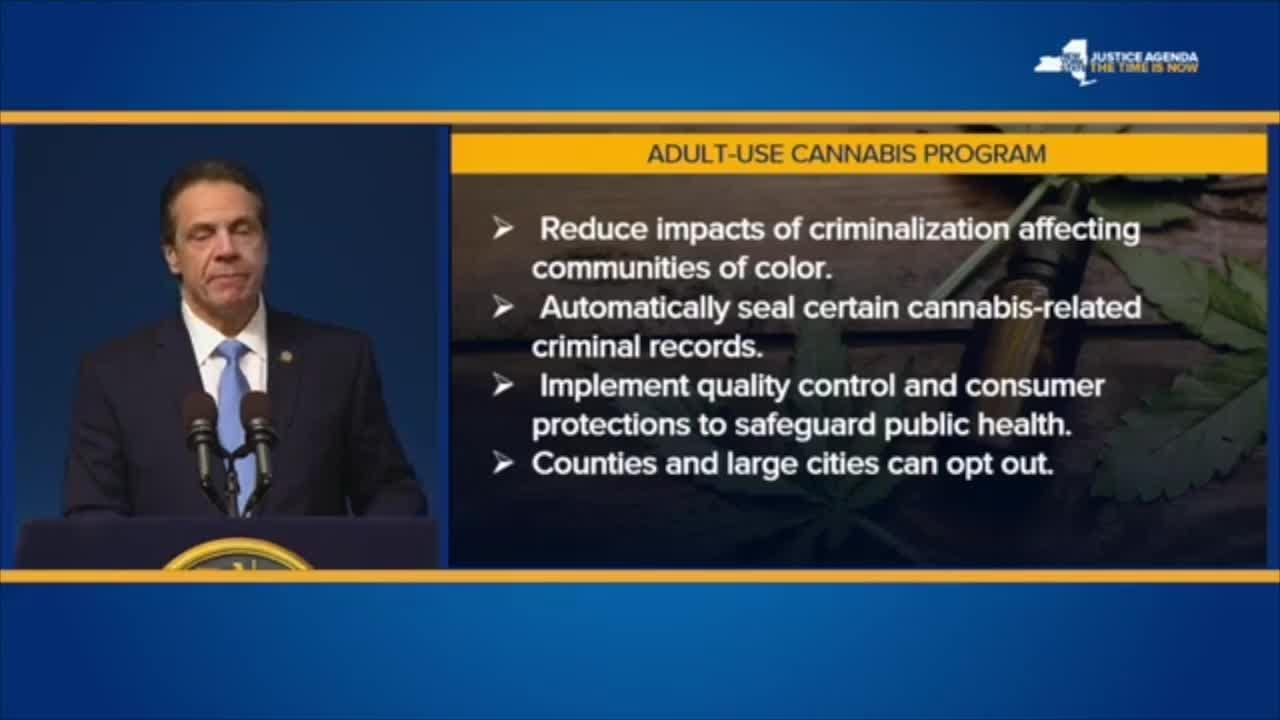 Andrew Cuomo lays out plan to legalize marijuana in New York