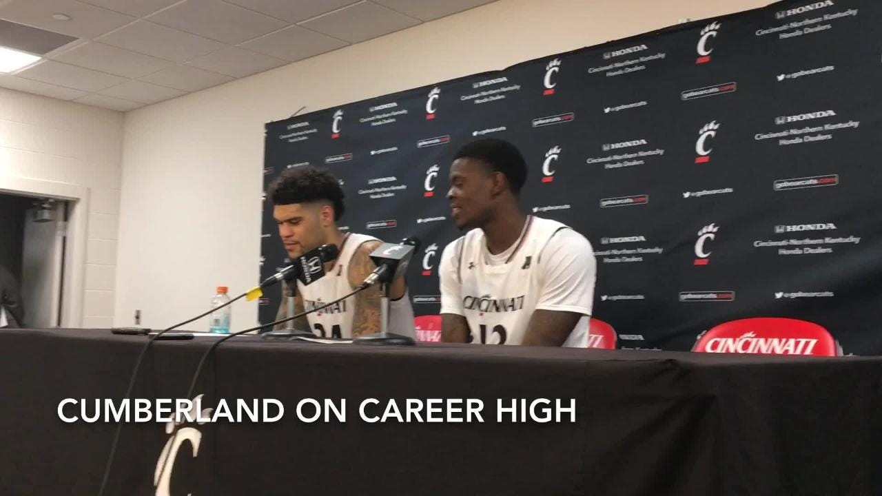 UC's Cumberland, Scott and USF's Brian Gregory on Bearcat win
