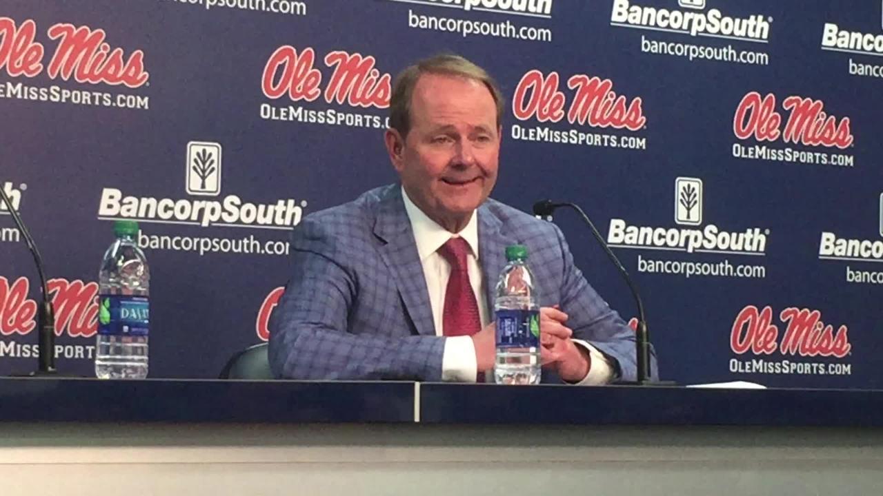 Ole Miss basketball coach Kermit Davis recapped the No. 18 Rebels' first loss since November, an 83-69 loss versus LSU.