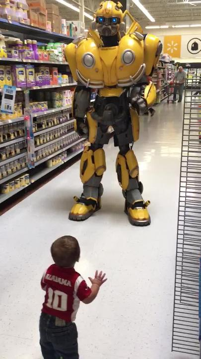 The Bumblebee Transformer is on a national tour of Walmarts
