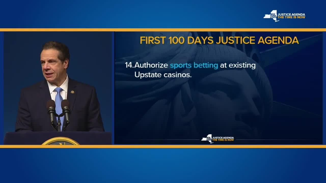 Gov. Andrew Cuomo said in his State of the State address Jan. 15, 2018, that upstate casinos should be authorized to add sports betting.
