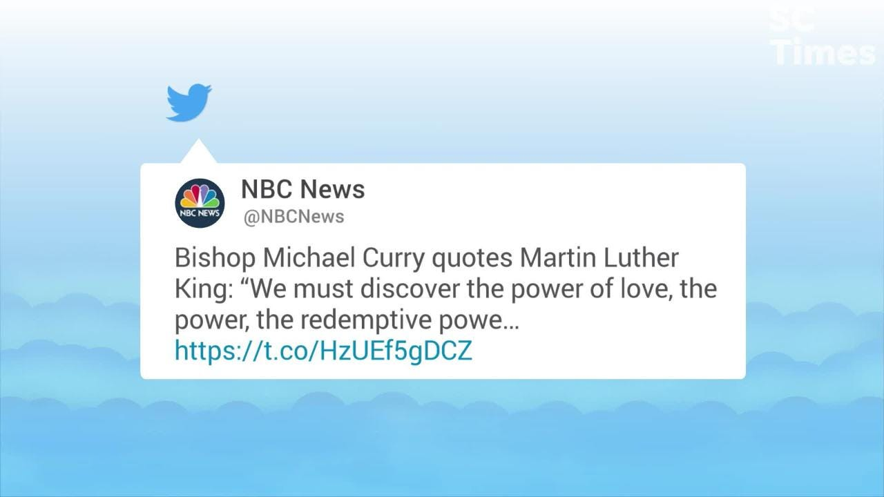 "American Bishop Michael Curry quoted several lines from the late Dr. Martin Luther King Jr.'s ""Where Do We Go From Here"" speech for the royal wedding."