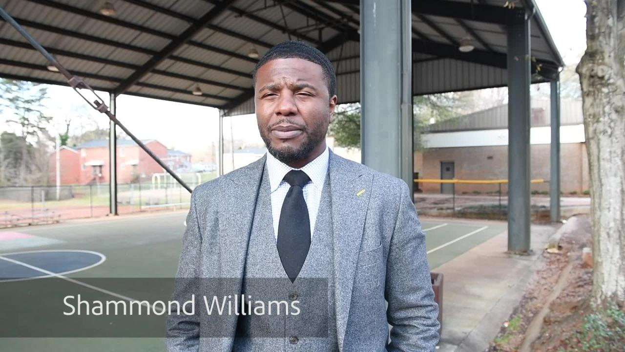 Shammond Williams talks about what his hometown of Greenville, SC means to him.