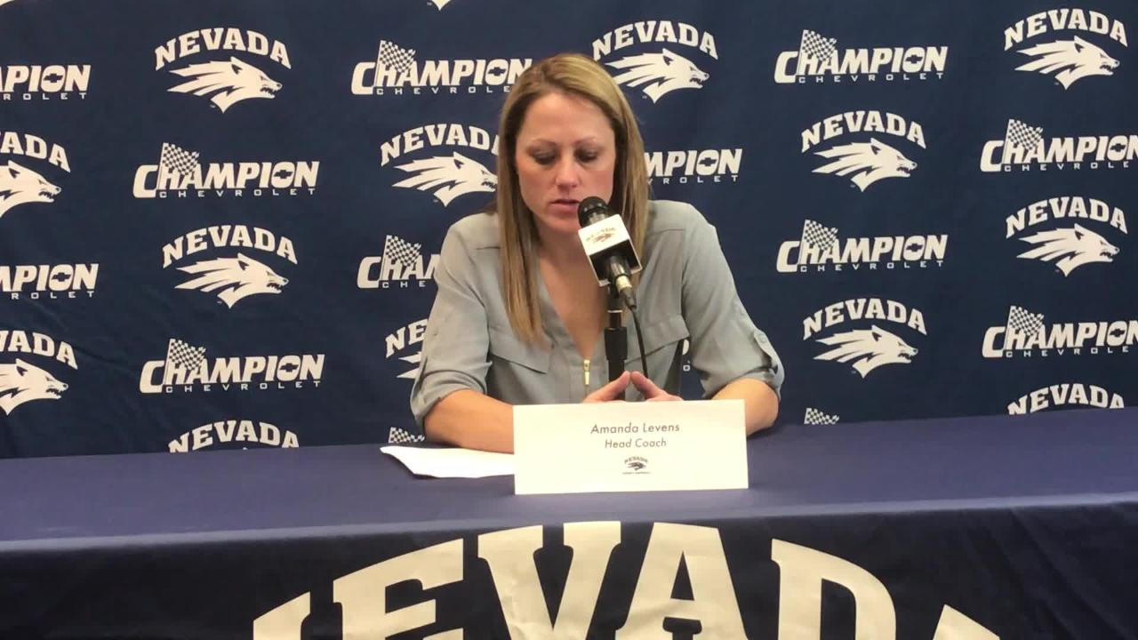 Nevada coach Amanda Levens discusses the Wolf Pack's 75-74 loss to Boise State on Wednesday.