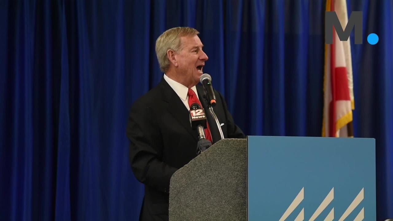 Mayor Todd Strange speaks during State of City and County