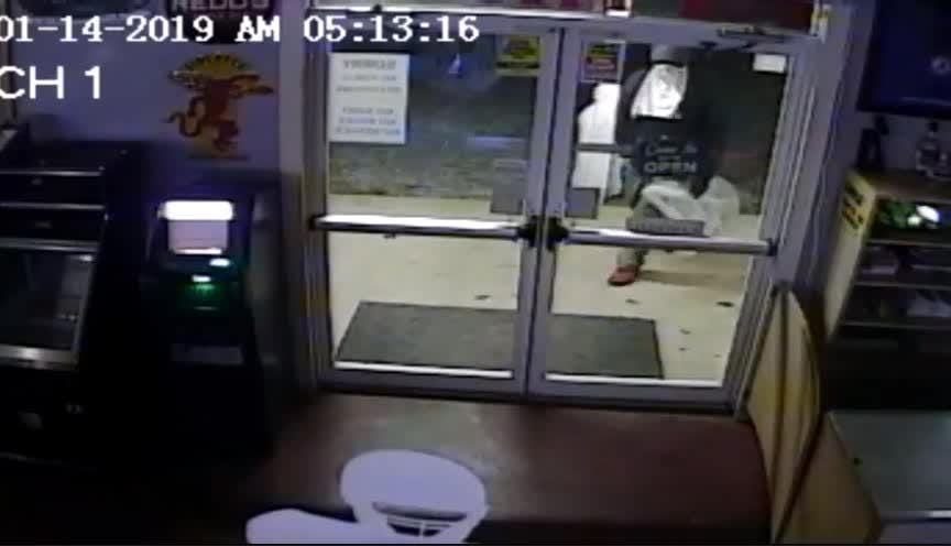 The suspects broke the glass on the front door of the TNT Pit Stop in West Billingsly and stole about $1,000 in merchandise