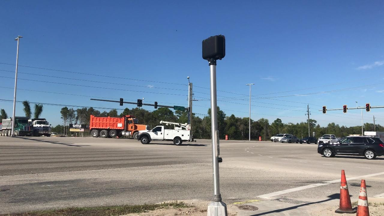 Video: Dump truck traffic at Estero Parkway, U S  41