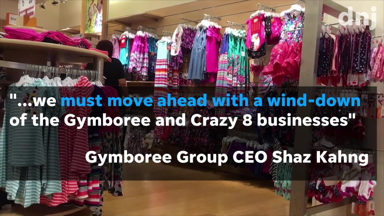 Shoppers have a limited time to use gift cards at Gymboree and Crazy 8