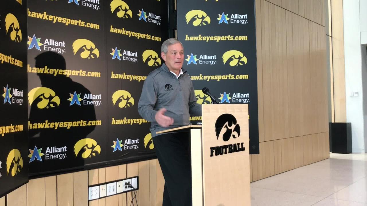 Iowa coach Kirk Ferentz is skeptical of the Coaches Poll after his team ended up unranked. Where does he think the Hawkeyes should have finished?