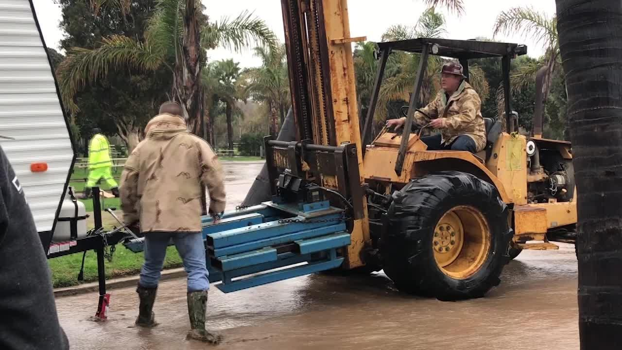 The latest in a series of storms Thursday led to flooding in Ventura and the evacuation of the Ventura Beach RV resort.
