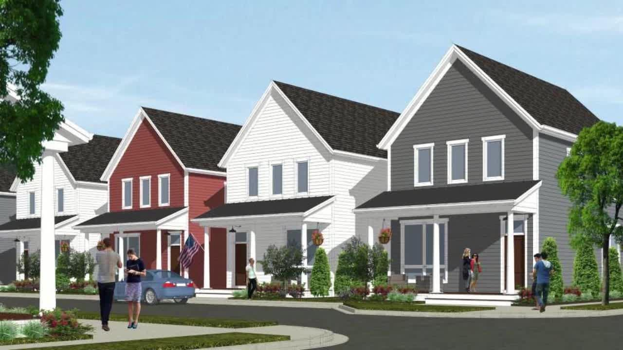 A new project will develop around two dozen smaller, closely spaced houses. Pocket neighborhoods have small group of houses that feature front porches, and small yards, to encourage residents to socialize together.