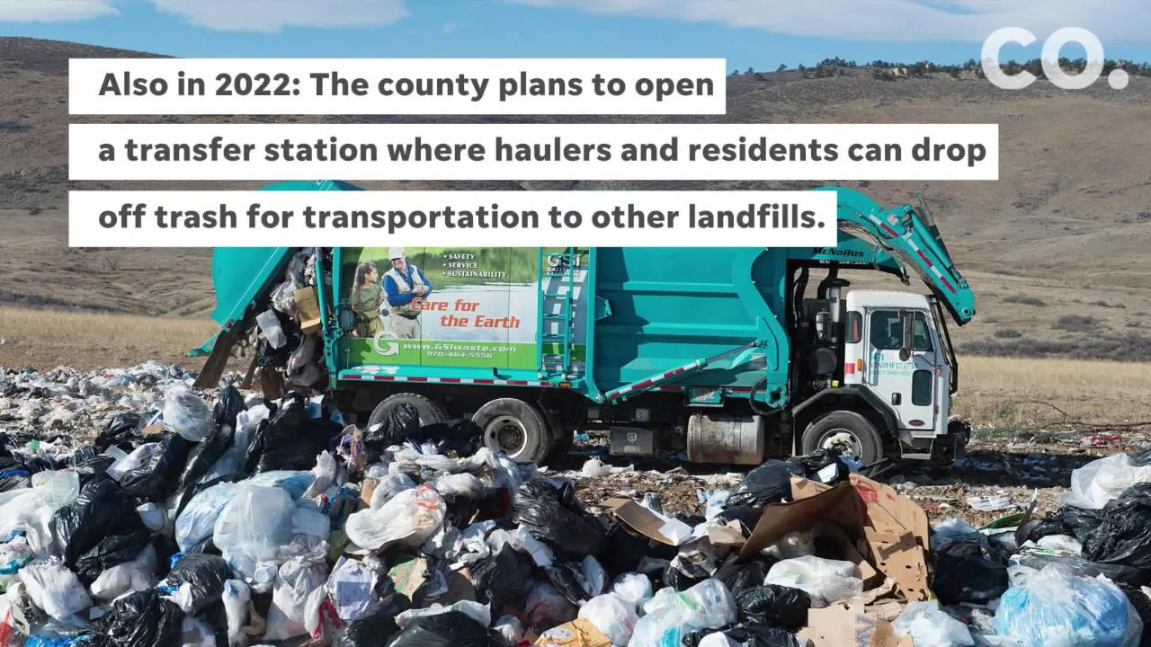 Larimer County plans to build five new facilities for trash between 2022 and 2024.