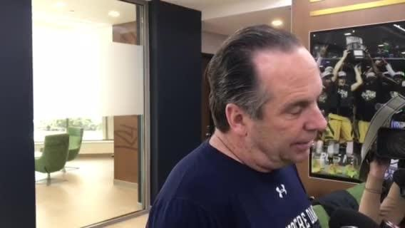 Notre Dame coach Mike Brey on the need for wins during a murderous January schedule