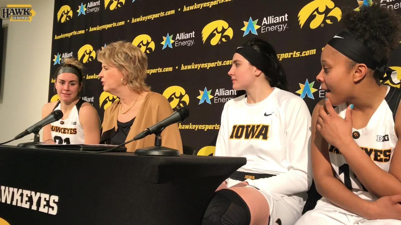 Iowa coach Lisa Bluder breaks down the Hawkeyes' strong third quarter in Michigan win