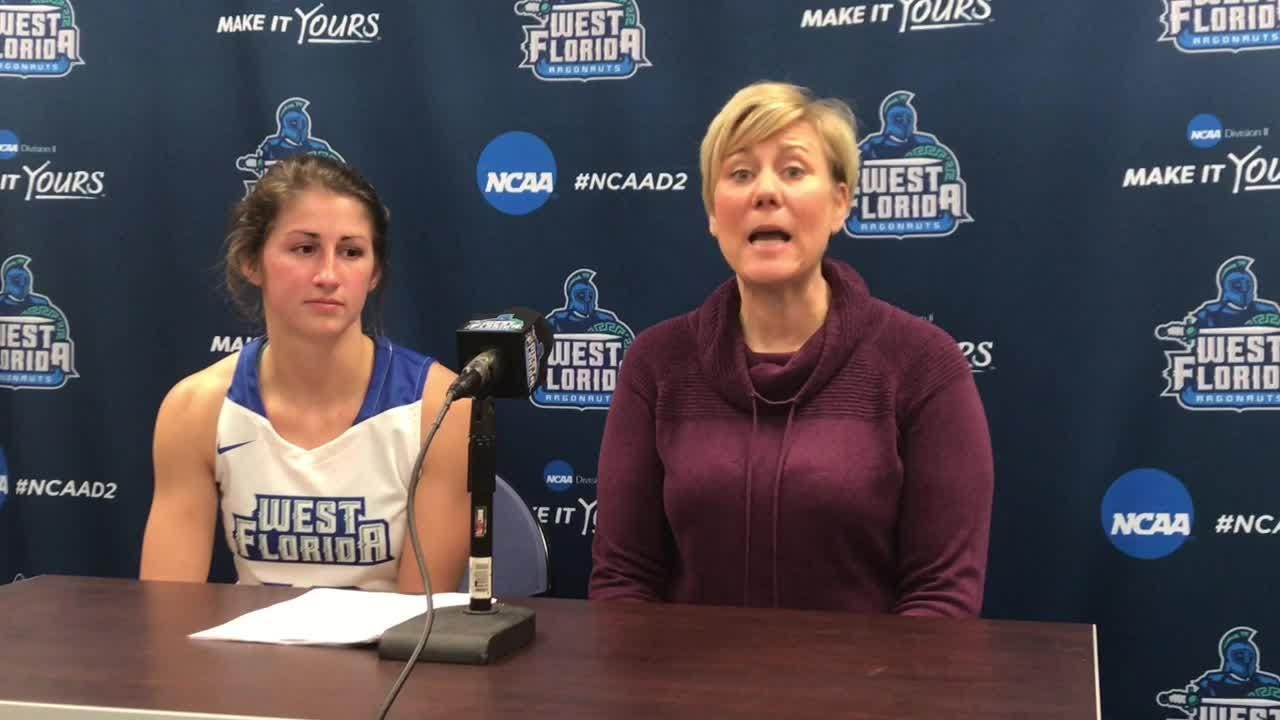 UWF senior point guard Anna Hall is among the nation's triple-double leaders with three after transferring from Saginaw Valley State this offseason.