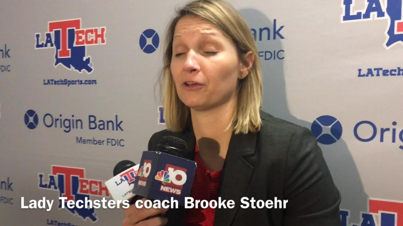 Brooke Stoehr discusses Lady Techsters'  home loss to Old Dominion
