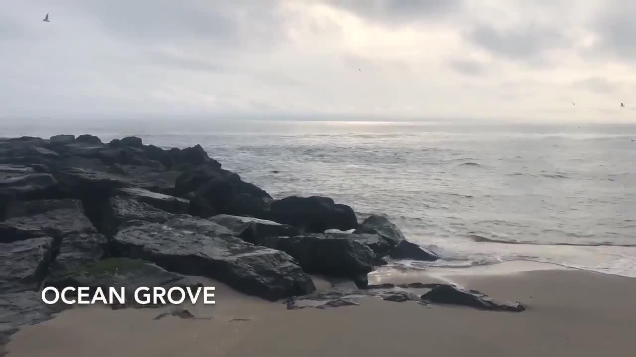 Raw video from Ocean Grove beach.
