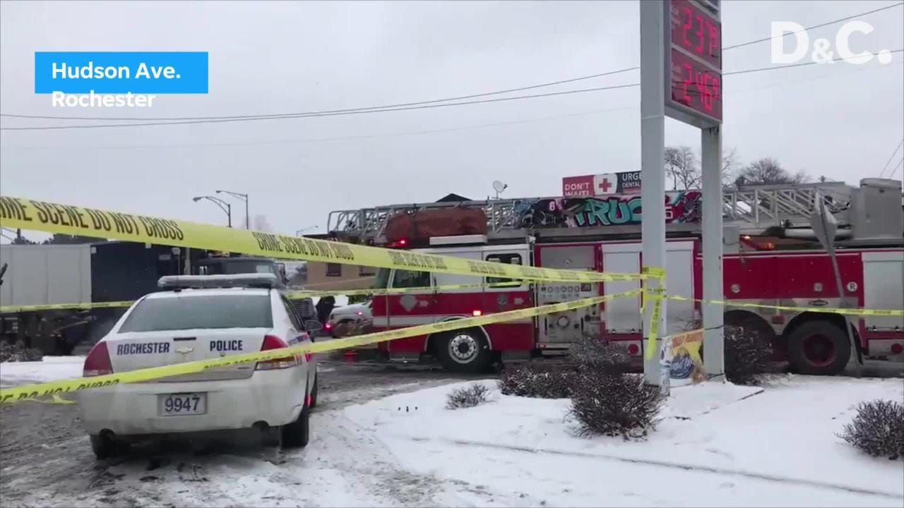 First video from the scene of a fatal accident on Hudson Ave.