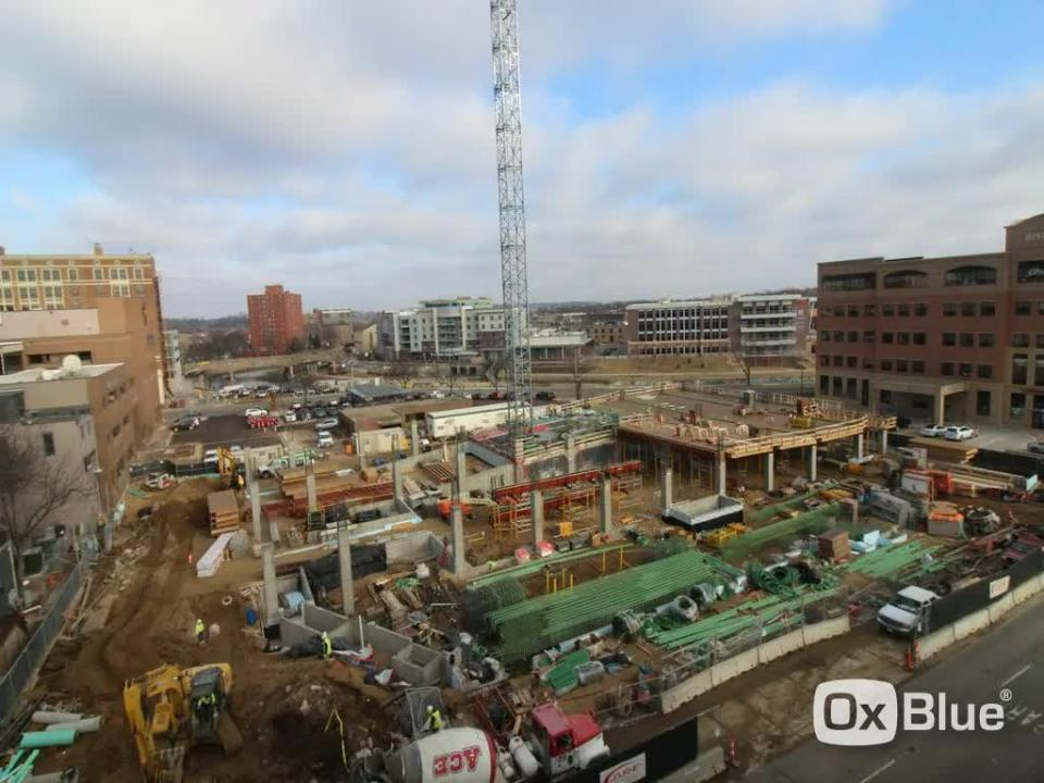 The Village on the River in downtown Sioux Falls is 15 percent complete. Video courtesy Journey Group.