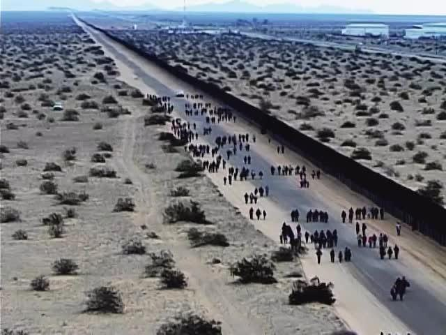 A group of 376 migrants tunneled underneath the border fence near Yuma on Jan. 14 before turning themselves into border agents, officials said.