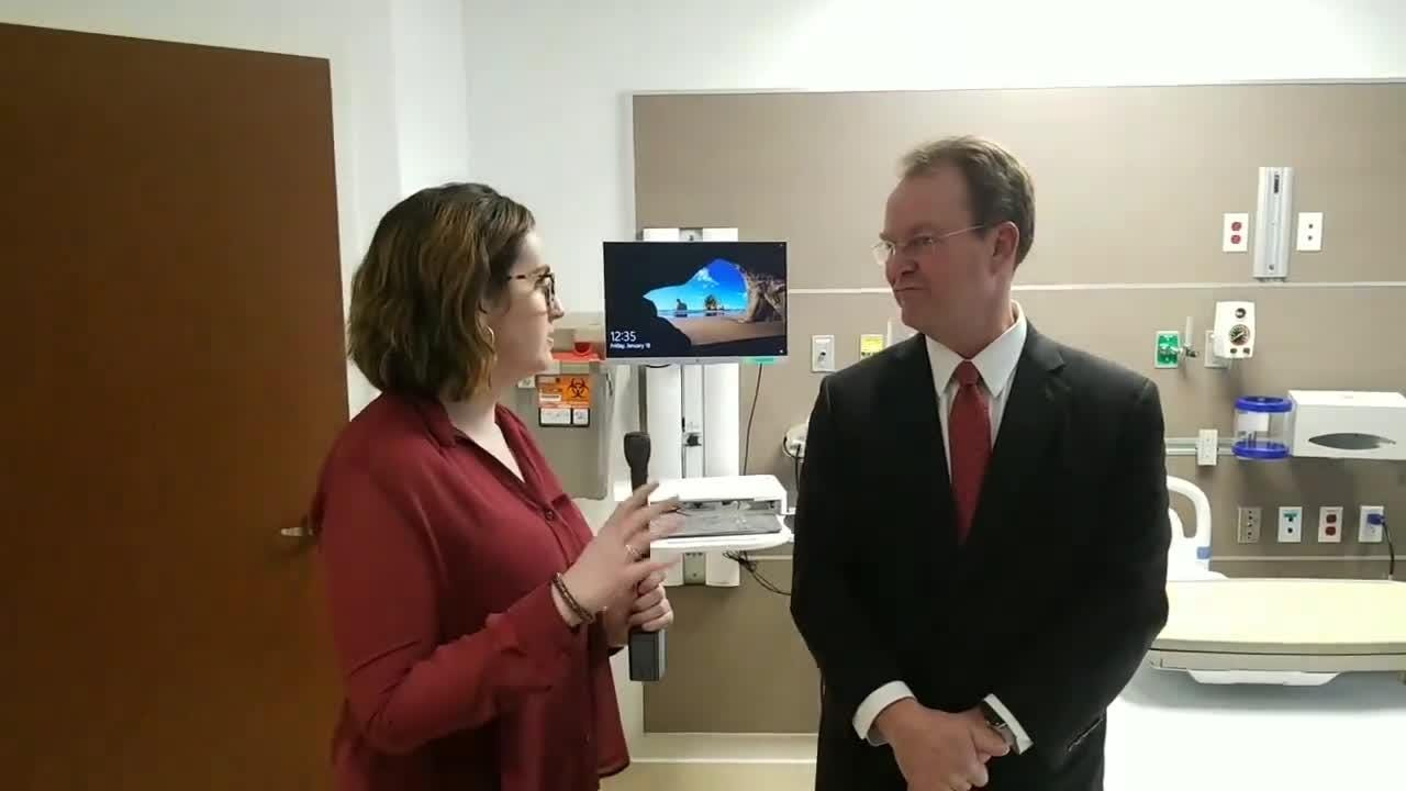 Bayhealth CEO Terry Murphy speaks with News Journal health reporter Meredith Newman about the new Sussex Campus in Milford scheduled to open February 2019.