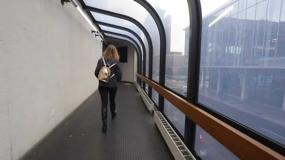 Walk with us through the Louie Link from the Hyatt Hotel Garage to Fourth Street Live.