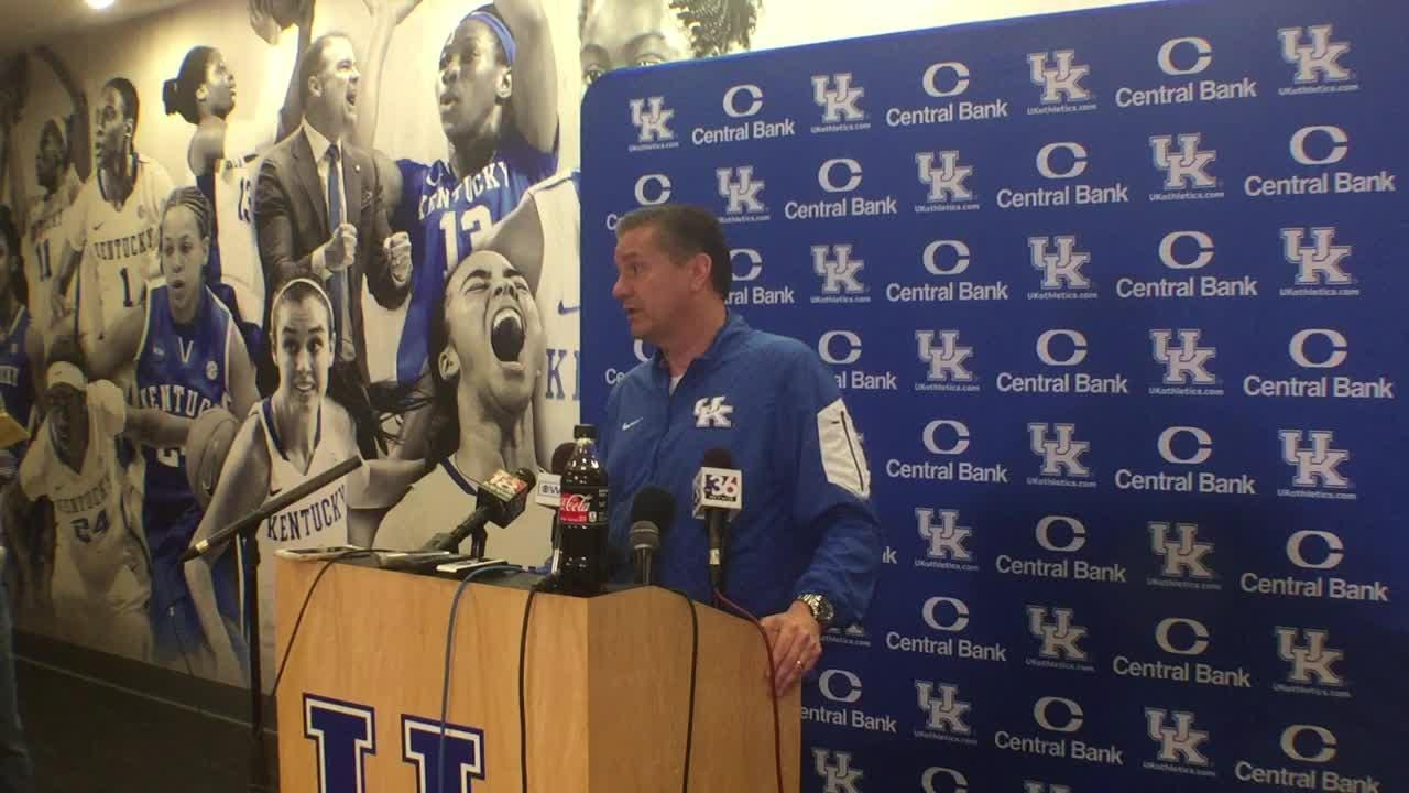 John Calipari's pre-Auburn news conference on Jan. 18, 2019.