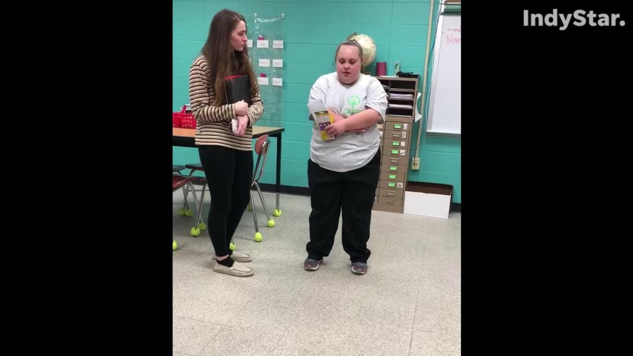 The 19-year old with Down Syndrome was crowned winter homecoming queen atTerre Haute South Vigo High School on Monday night.