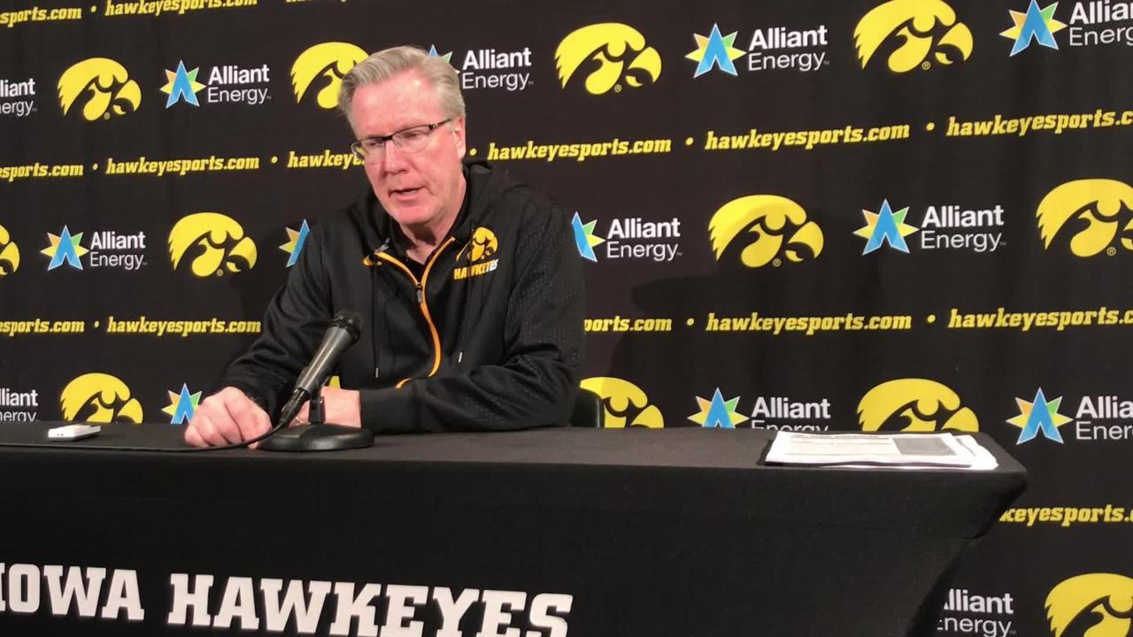 Iowa coach Fran McCaffery talks about his two centers, Luka Garza and Ryan Kriener