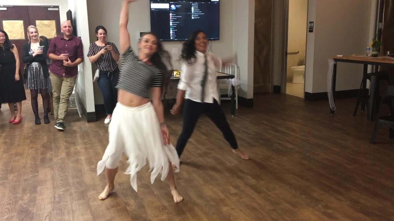 Michelle Armstrong and Mimi Refuerzo are dancers, so when they married, they choreographed their own first dance.