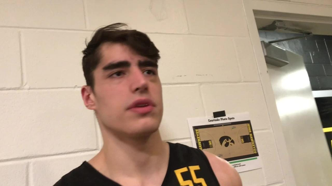Iowa center Luka Garza compares his shooting to Ryan Kriener's, then explains why he's playing so much better the past four games