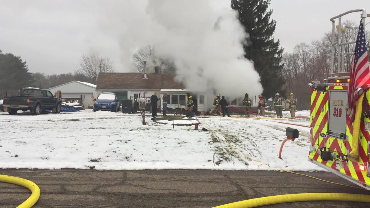 Fire Damages Holbein Drive Home